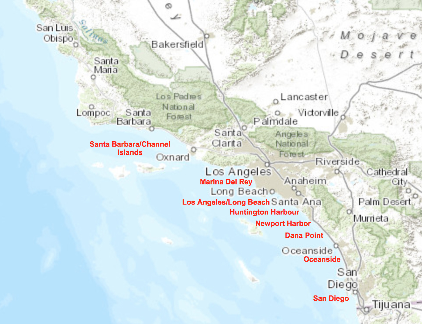 Southern California Fleet Ports
